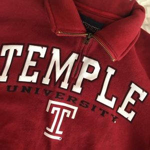 Brand New Temple University Quarter Zip Sweatshirt
